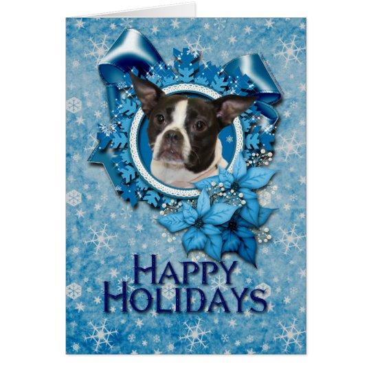 Christmas - Blue Snowflake - Boston & Rat