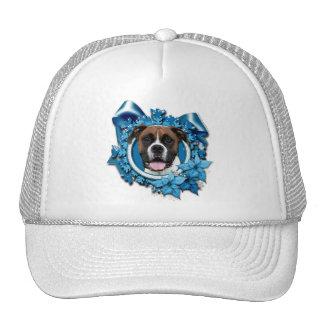 Christmas - Blue Snowflake - Boxer - Vindy Mesh Hat