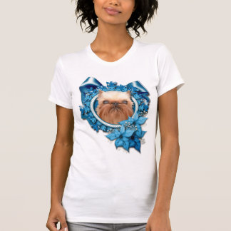 Christmas - Blue Snowflake - Brussels Griffon Tee Shirt