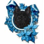 Christmas - Blue Snowflake - Cairn Terrier - Rosco Photo Sculpture Decoration