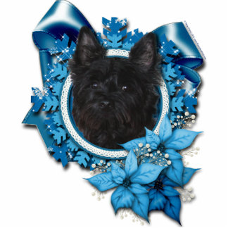 Christmas - Blue Snowflake - Cairn Terrier - Rosco Photo Sculpture Decoration