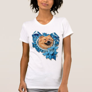 Christmas - Blue Snowflake - Chow Chow - Cinny Tank Top