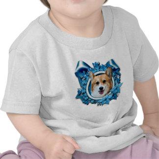 Christmas - Blue Snowflake - Corgi - Owen Shirt
