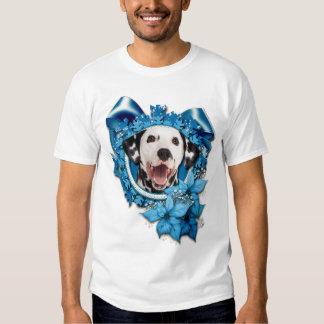 Christmas - Blue Snowflake - Dalmatian Tee Shirts