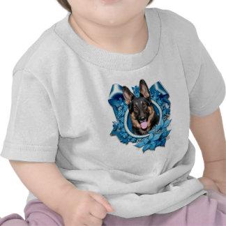 Christmas - Blue Snowflake - German Shepherd -Kuno T Shirts
