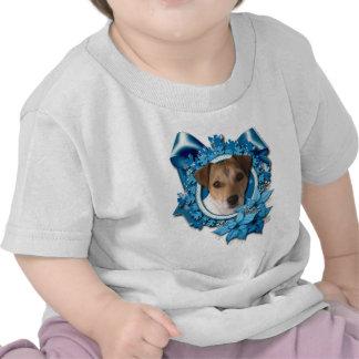 Christmas - Blue Snowflake - Jack Russell T-shirt