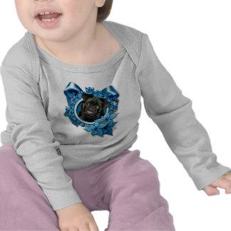 Christmas - Blue Snowflake - Pug - Ruffy T Shirts