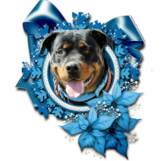 Christmas - Blue Snowflake - Rottweiler SambaParTi Photo Sculpture Decoration