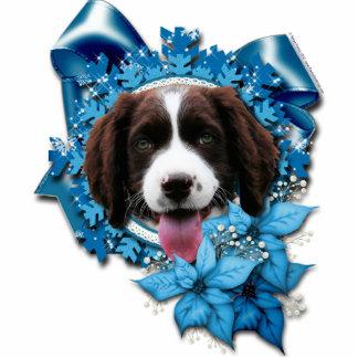 Christmas - Blue Snowflake - Springer Spaniel Photo Sculpture Decoration