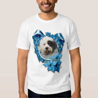 Christmas - Blue Snowflake - Tibetan Terrier Shirt