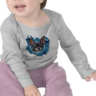 Christmas - Blue Snowflakes - Chihuahua Tshirts