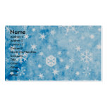 Christmas - Blue Snowflakes - Siberian Husky Double-Sided Standard Business Cards (Pack Of 100)