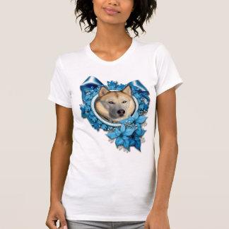Christmas - Blue Snowflakes - Siberian Husky Tee Shirts