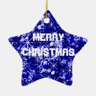 Christmas blue sparkly ornament