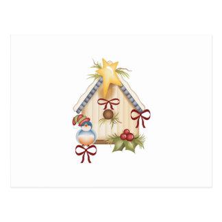 CHRISTMAS BLUEBIRD POST CARD