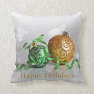Christmas Bokeh Christmas Balls Cushion