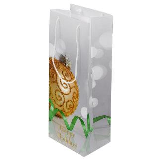 Christmas Bokeh Christmas Balls Wine Gift Bag
