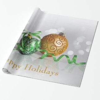 Christmas Bokeh Christmas Balls Wrapping Paper