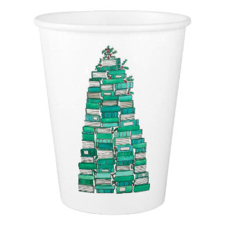 Christmas Book Tree Cups