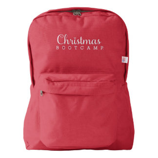 Christmas Bootcamp Backpacks   Red