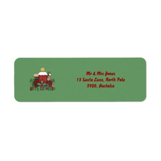 Christmas Boots, Return Address Label