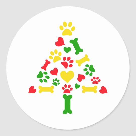 christmas border classic round sticker