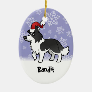 Christmas Border Collie (add your pets name) Christmas Ornament