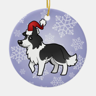 Christmas Border Collie Christmas Ornament