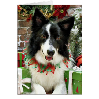 Christmas - Border Collie - Jessup Greeting Card