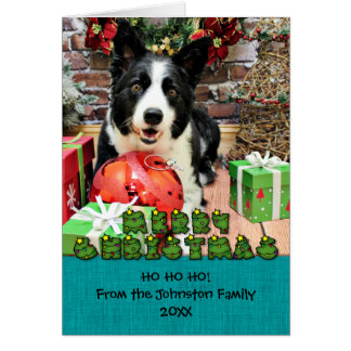 Christmas - Border Collie - Yaeger Greeting Card