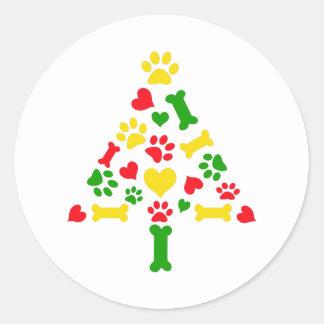 christmas border round sticker