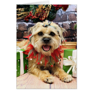Christmas - Border Terrier - Reagan Greeting Card