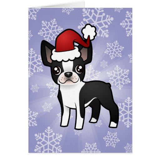 Christmas Boston Terrier