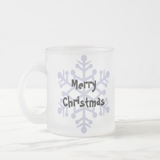 Christmas Boston Terrier Frosted Glass Coffee Mug