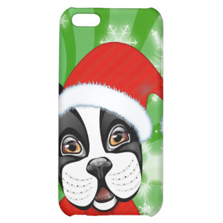Christmas Boston Terrier Cover For iPhone 5C