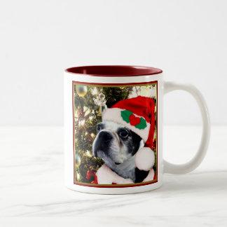 Christmas Boston terrier Mugs