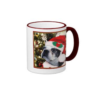 Christmas Boston terrier Mug