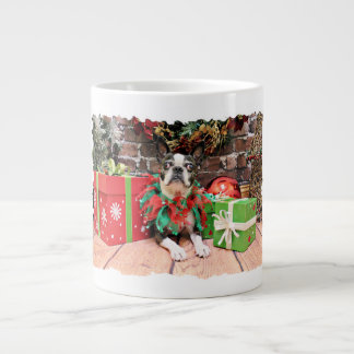 Christmas - Boston Terrier - Natty Jumbo Mug