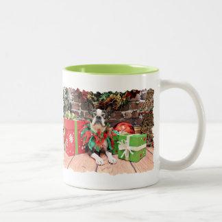 Christmas - Boston Terrier - Natty Coffee Mug