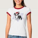 Christmas Boston Terrier Tee Shirt