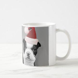 Christmas Boston Terriers Basic White Mug