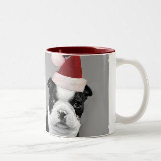Christmas Boston Terriers mug