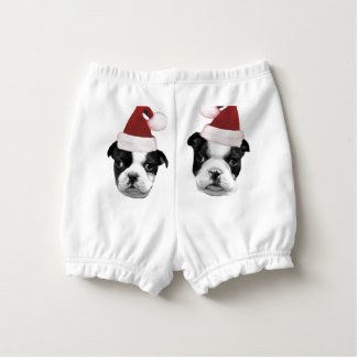 Christmas Boston Terriers Nappy Cover