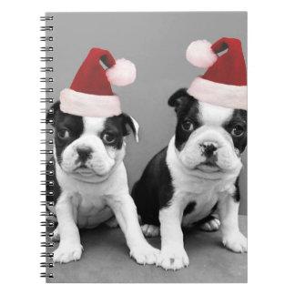 Christmas Boston terriers Notebook
