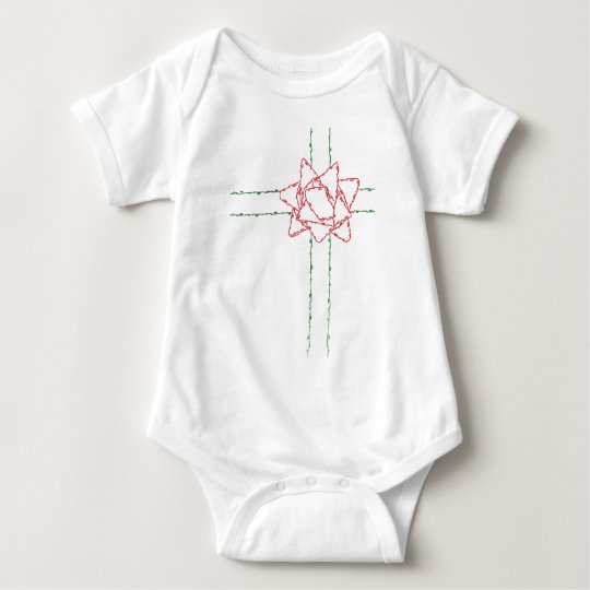 CHRISTMAS BOW BABY BODYSUIT