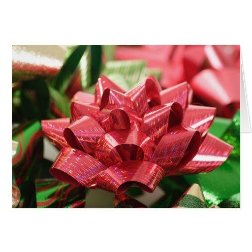 Christmas Bow Christmas Greeting Card