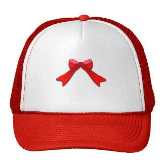 Christmas Bow Mesh Hats