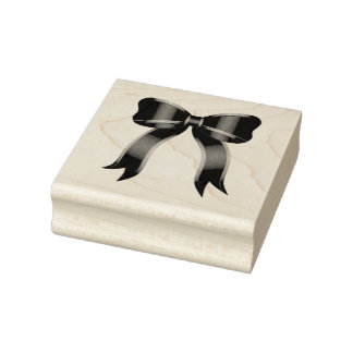 Christmas Bow Rubber Stamp