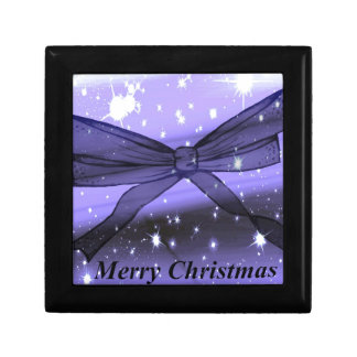Christmas Bow Small Square Gift Box