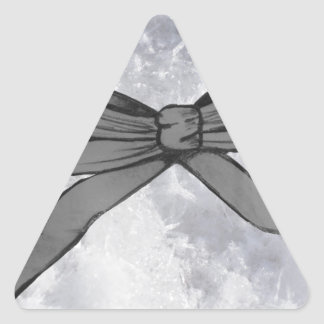 Christmas Bow Triangle Sticker